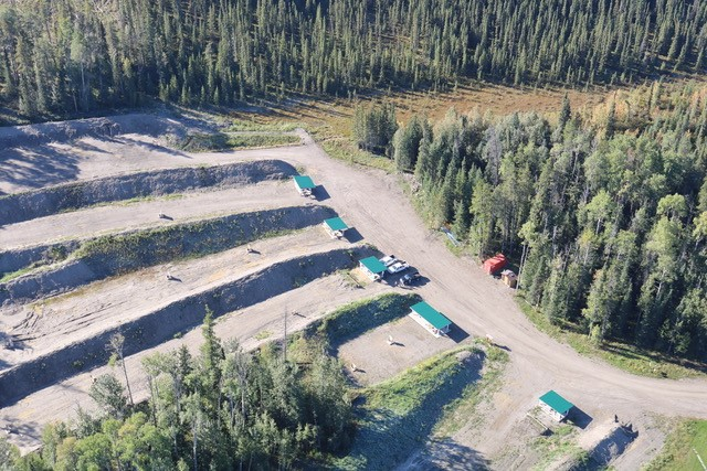 An arial view of the outdoor gun ranges in Hinton.