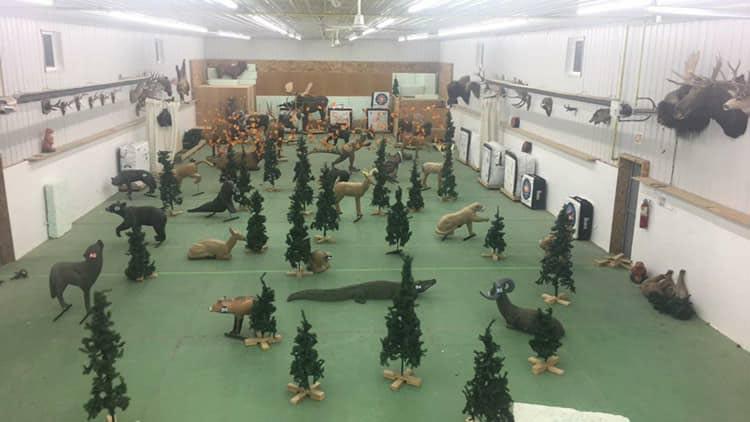 Hinton Fish and Game's Indoor Archery Range