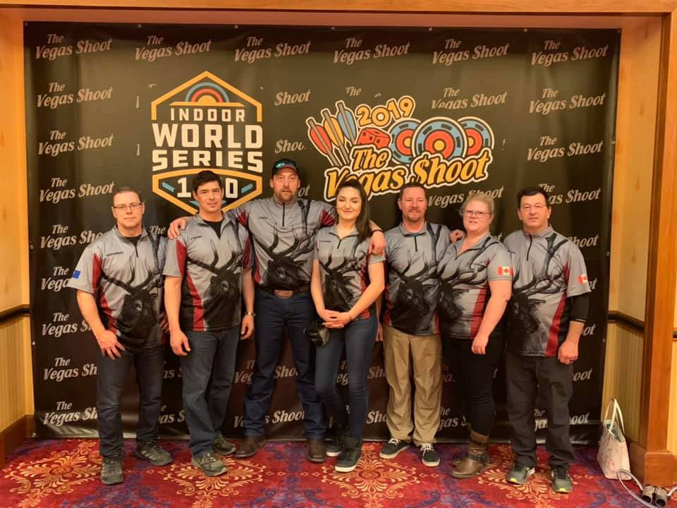 An archery team representing the Hinton Area in vegas.